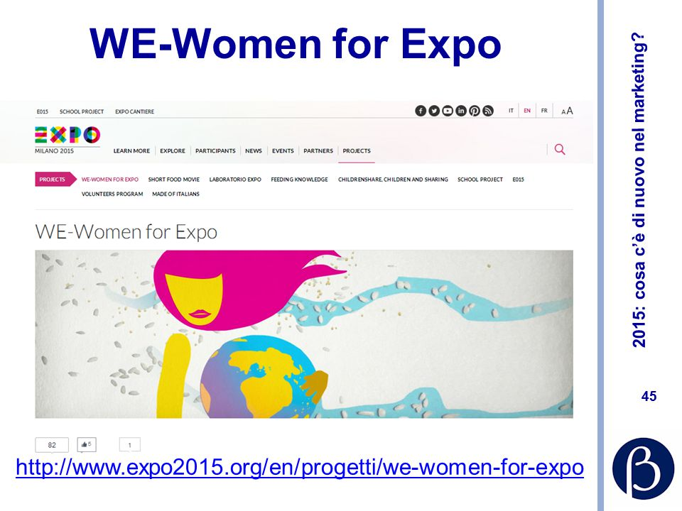 WE-Women for Expo http://www.expo2015.org/en/progetti/we-women-for-expo