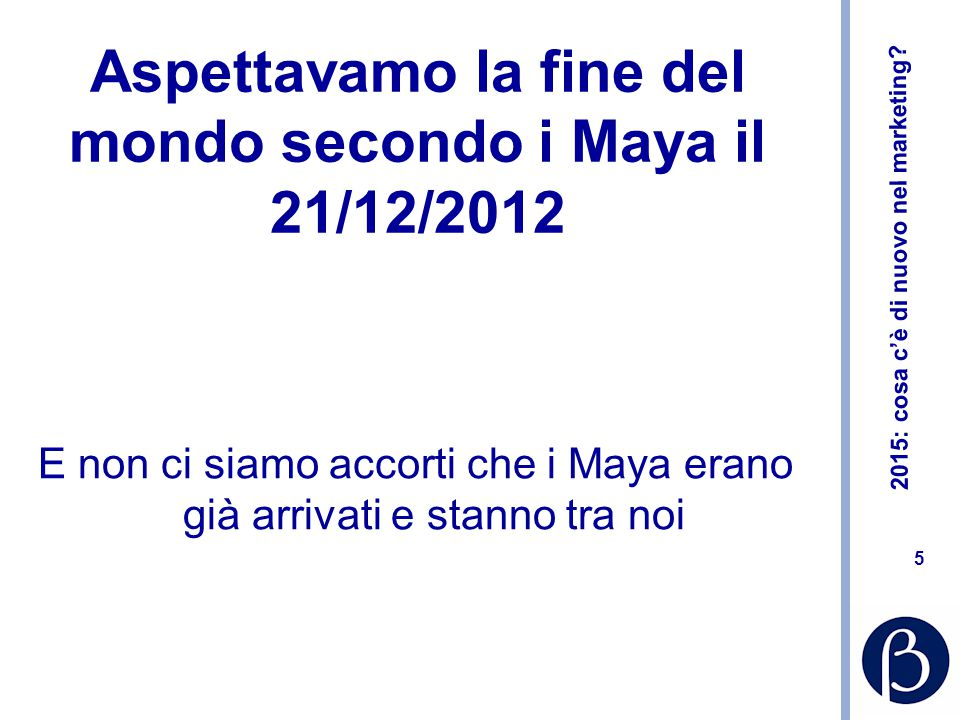 Aspettavamo la fine del mondo secondo i Maya il 21/12/2012