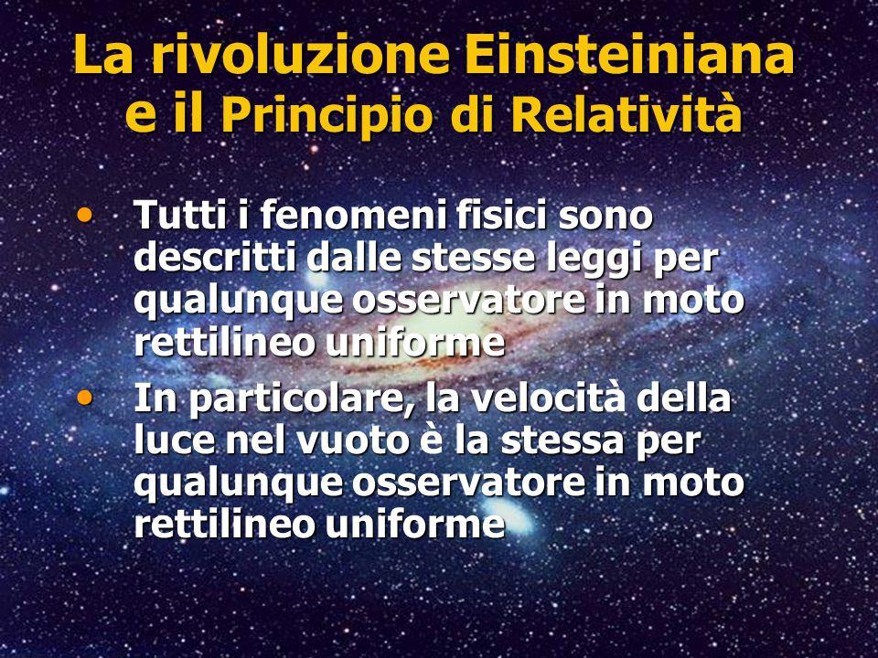 La rivoluzione Einsteiniana e il Principio di Relatività