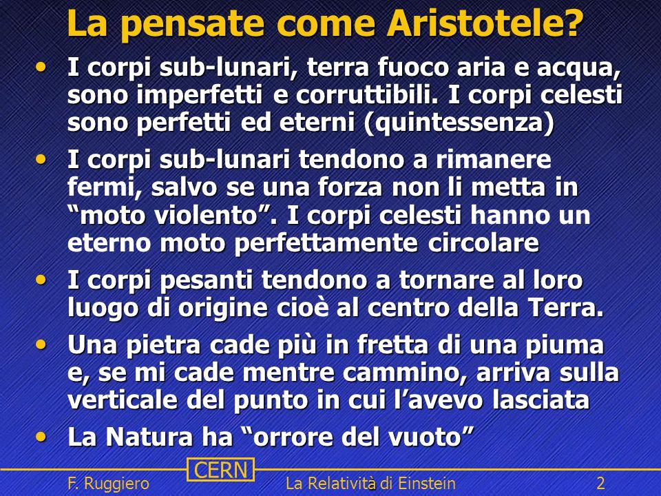 La pensate come Aristotele