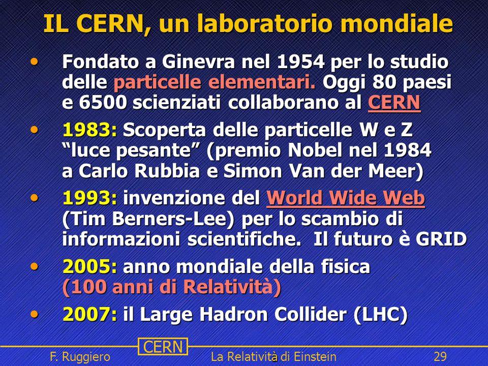 IL CERN, un laboratorio mondiale