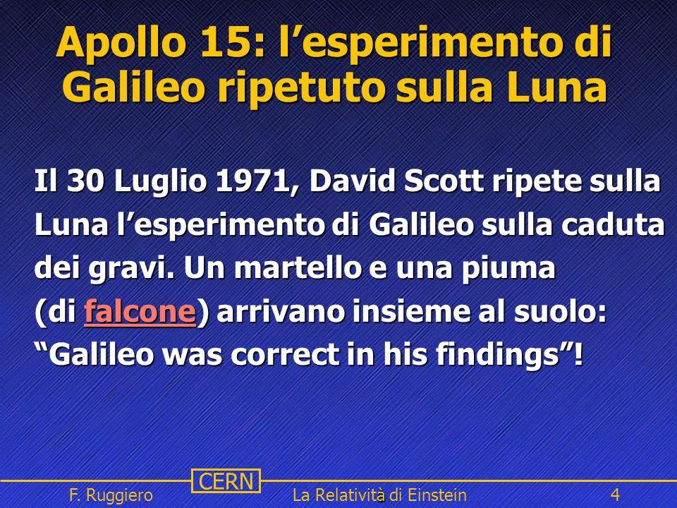 Apollo 15: l'esperimento di Galileo ripetuto sulla Luna