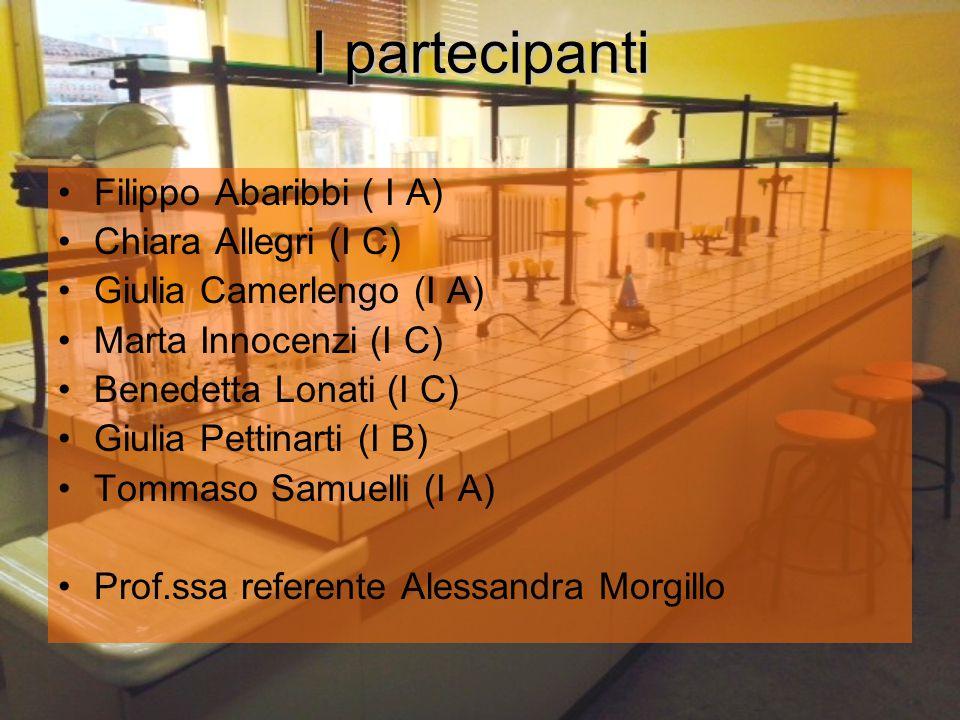 I partecipanti Filippo Abaribbi ( I A) Chiara Allegri (I C)