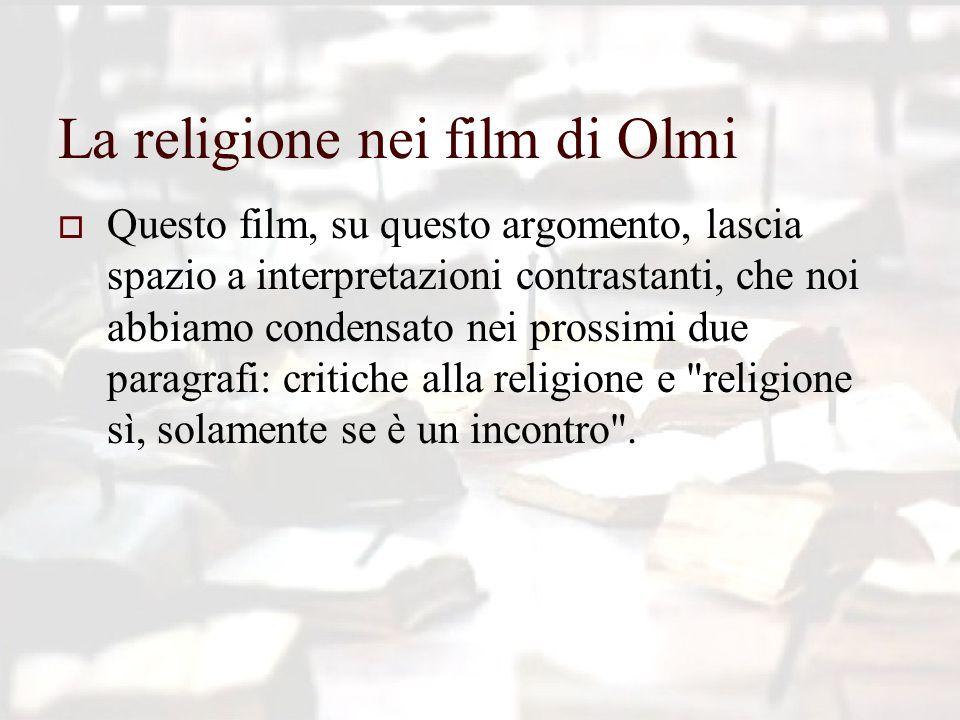 La religione nei film di Olmi