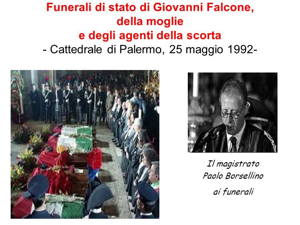 Funerali di stato di Giovanni Falcone, della moglie e degli agenti della scorta - Cattedrale di Palermo, 25 maggio 1992-
