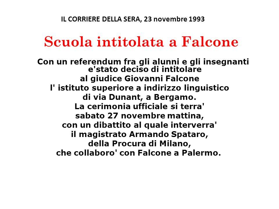 al giudice Giovanni Falcone