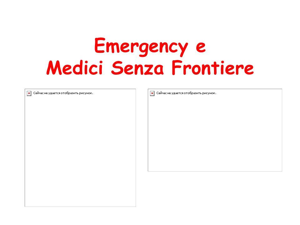 Emergency e Medici Senza Frontiere