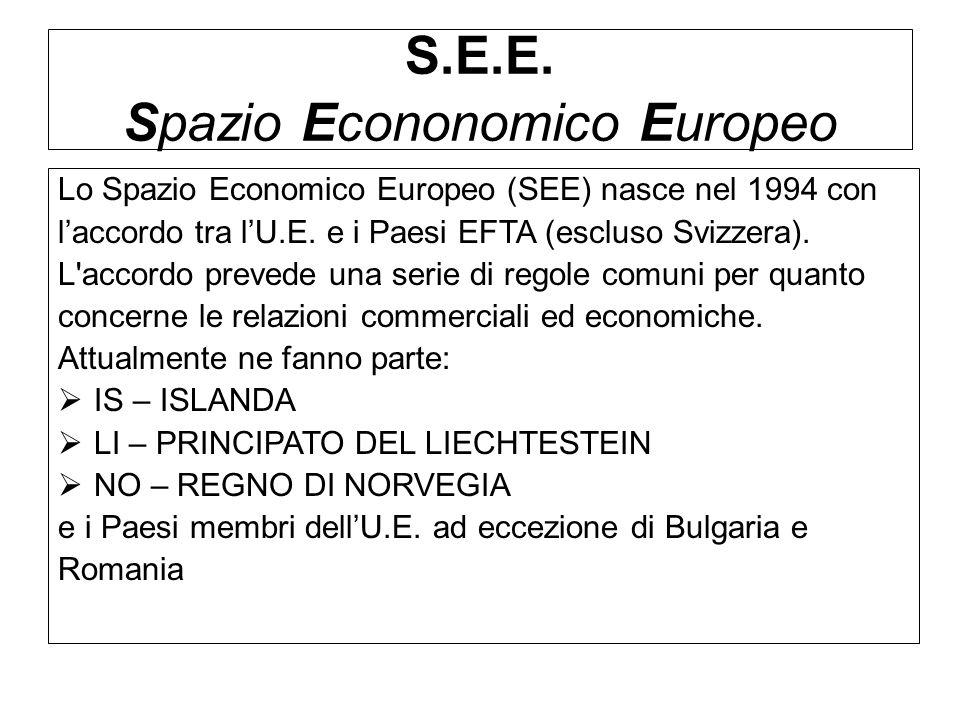 S.E.E. Spazio Econonomico Europeo