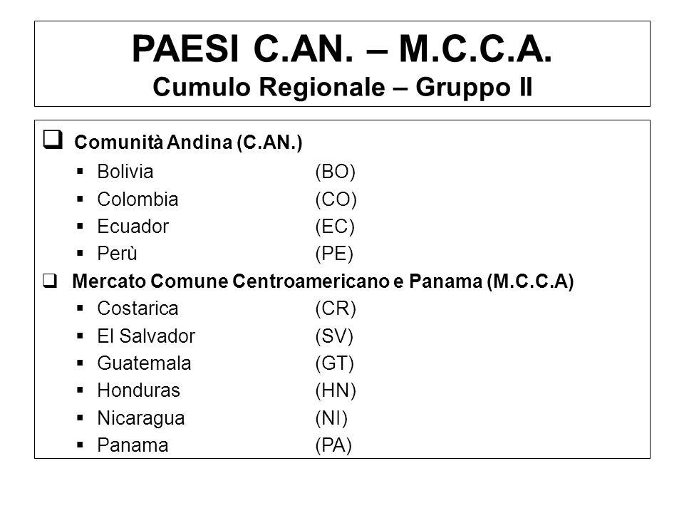 PAESI C.AN. – M.C.C.A. Cumulo Regionale – Gruppo II
