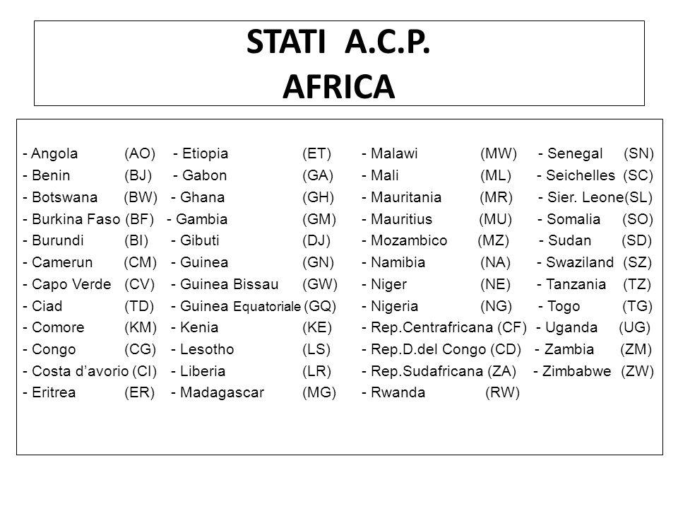 STATI A.C.P. AFRICA