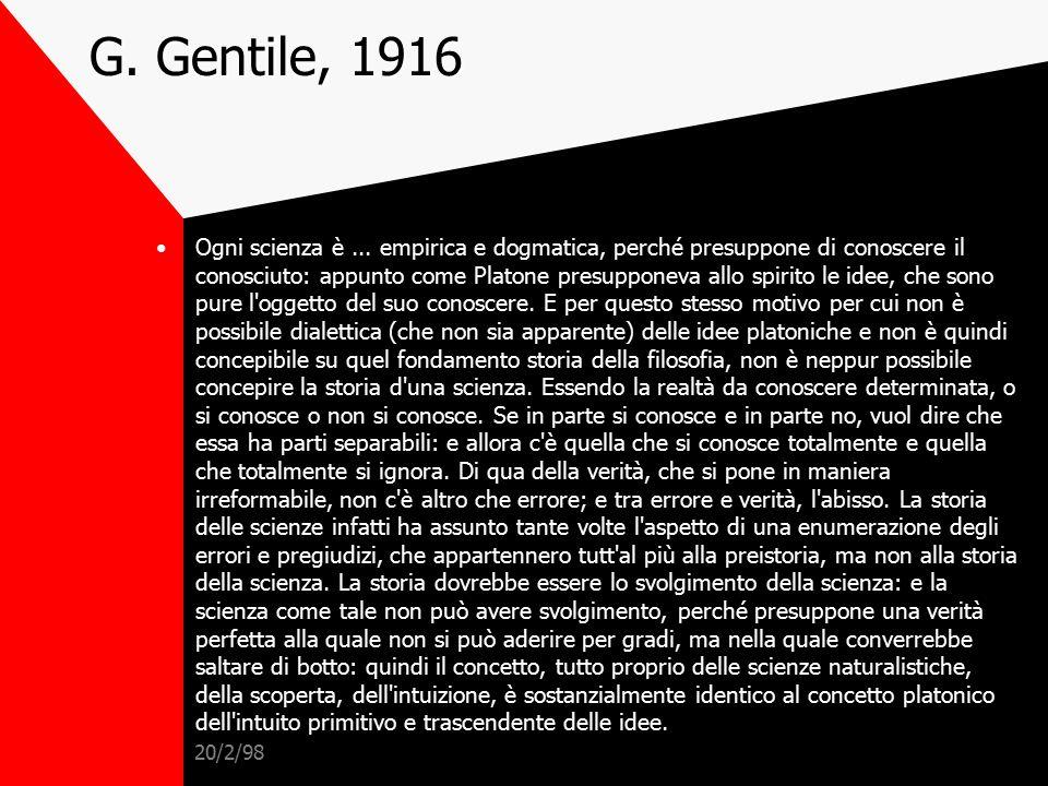 G. Gentile, 1916
