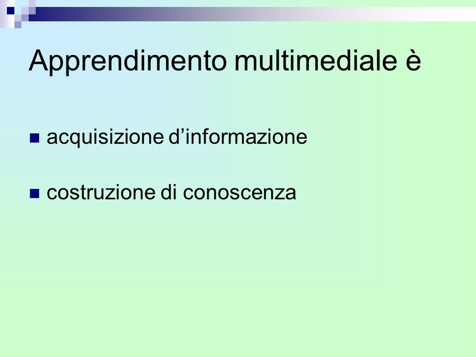 Apprendimento multimediale è