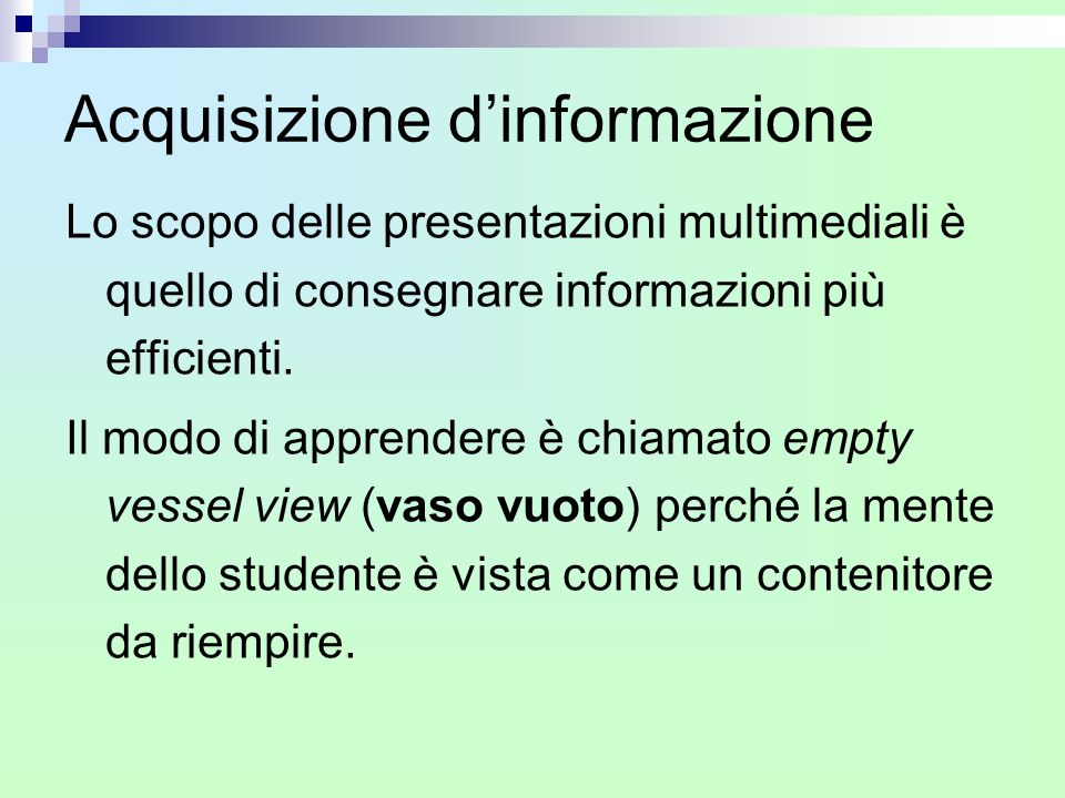 Acquisizione d'informazione