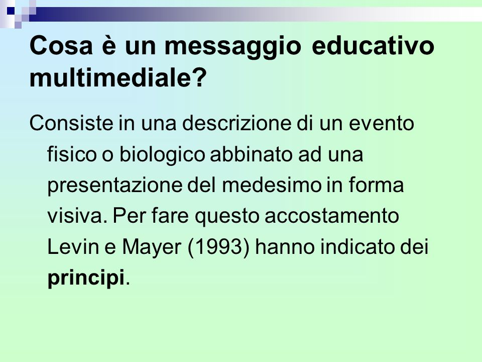 Cosa è un messaggio educativo multimediale