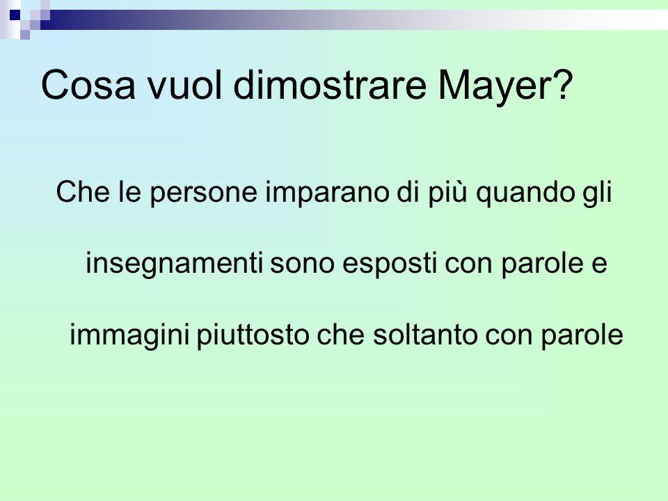 Cosa vuol dimostrare Mayer