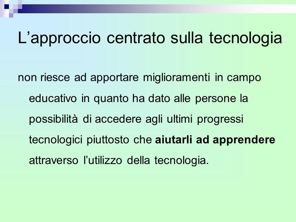 L'approccio centrato sulla tecnologia