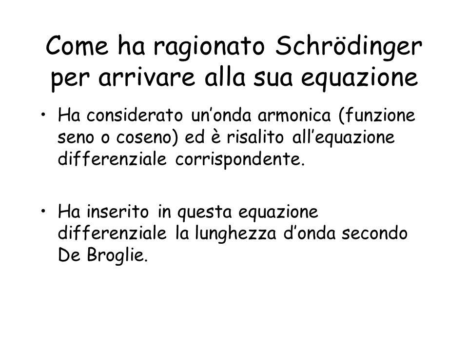 Come ha ragionato Schrödinger per arrivare alla sua equazione