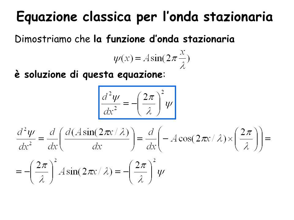 Equazione classica per l'onda stazionaria