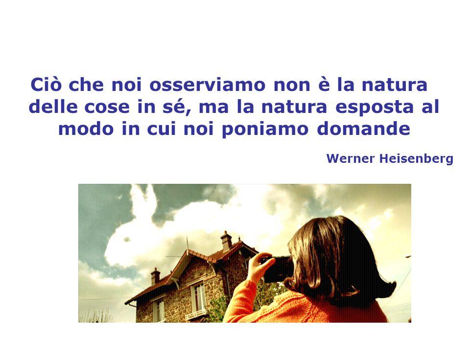 Ciò che noi osserviamo non è la natura delle cose in sé, ma la natura esposta al modo in cui noi poniamo domande