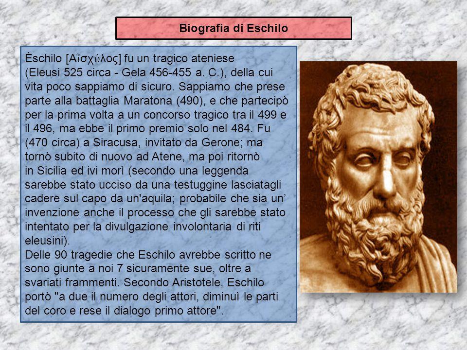 Biografia di Eschilo