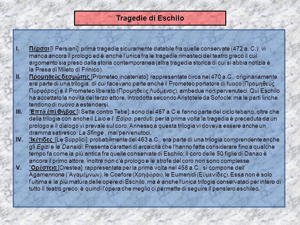 Tragedie di Eschilo