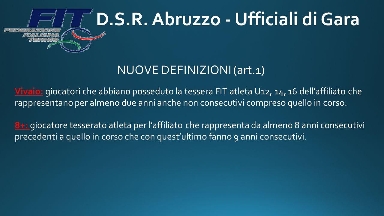 D.S.R. Abruzzo - Ufficiali di Gara