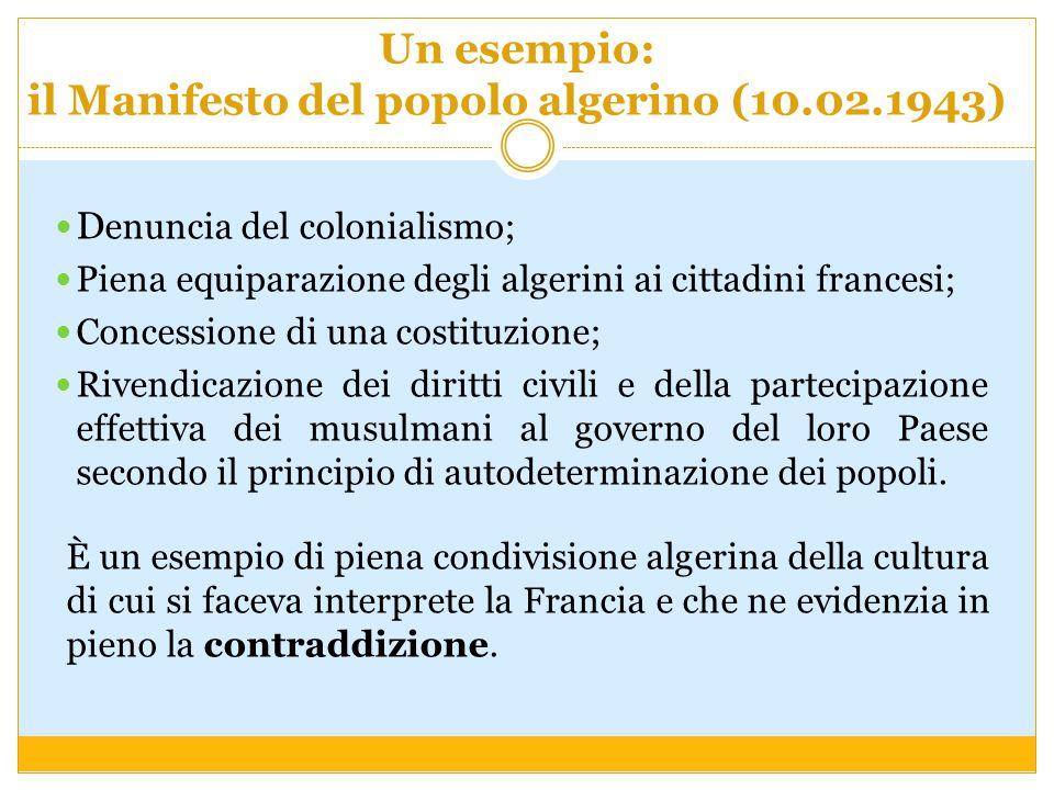 Un esempio: il Manifesto del popolo algerino (10.02.1943)