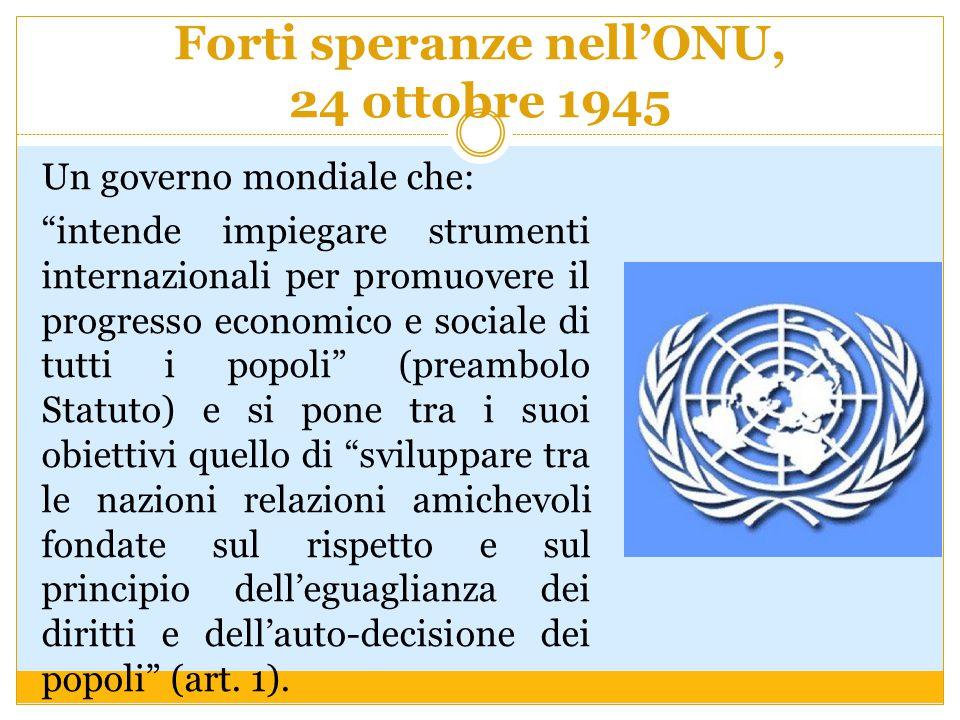 Forti speranze nell'ONU, 24 ottobre 1945
