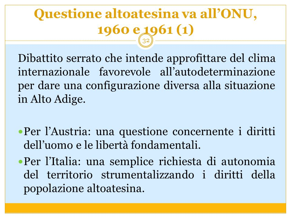 Questione altoatesina va all'ONU, 1960 e 1961 (1)
