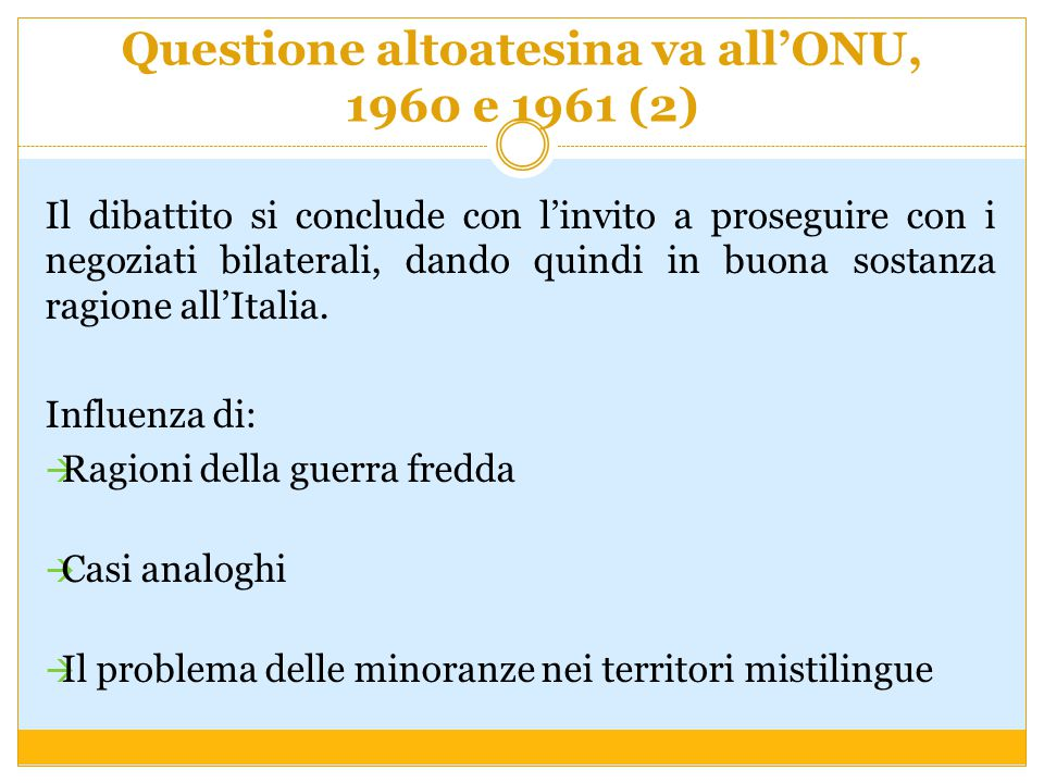 Questione altoatesina va all'ONU, 1960 e 1961 (2)