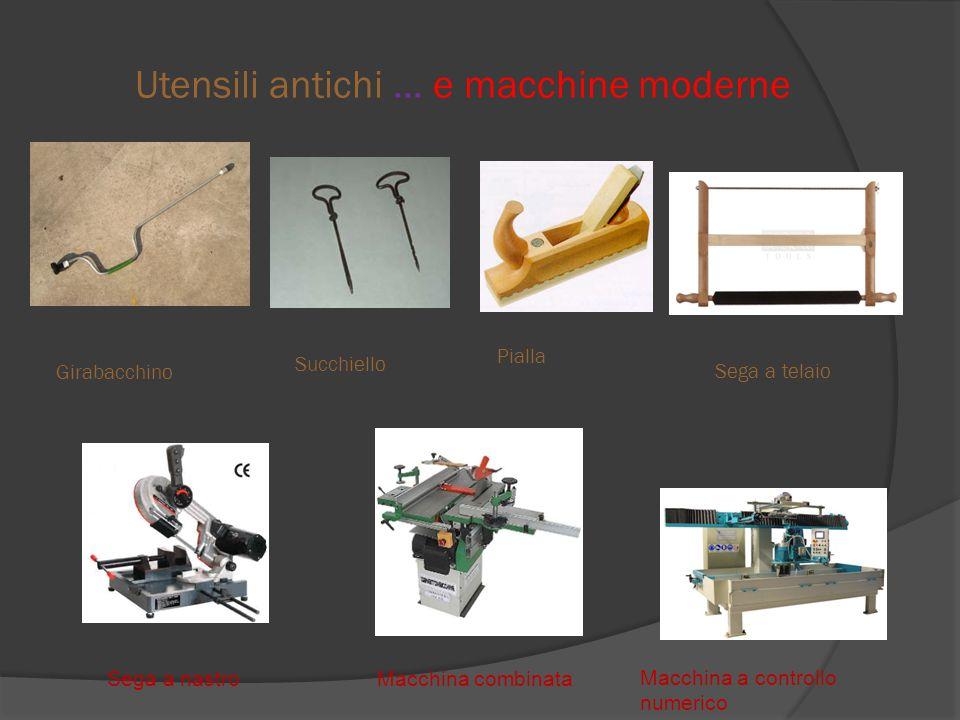 Utensili antichi … e macchine moderne