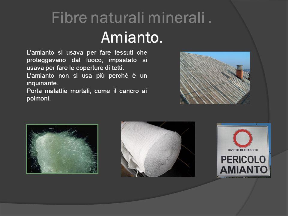 Fibre naturali minerali . Amianto.