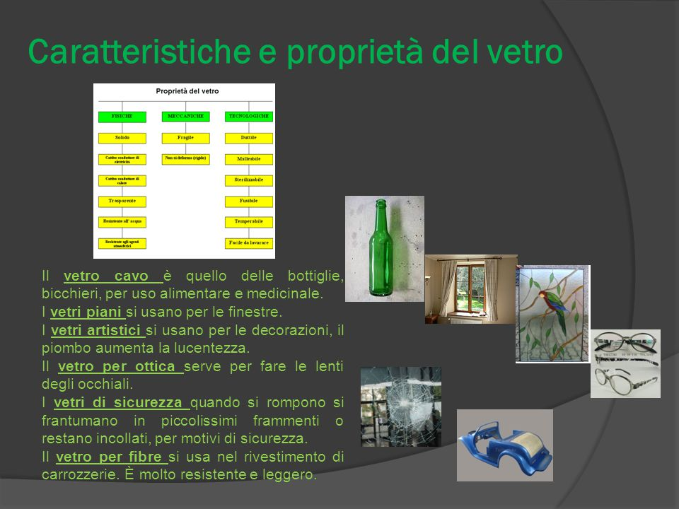 Caratteristiche e proprietà del vetro