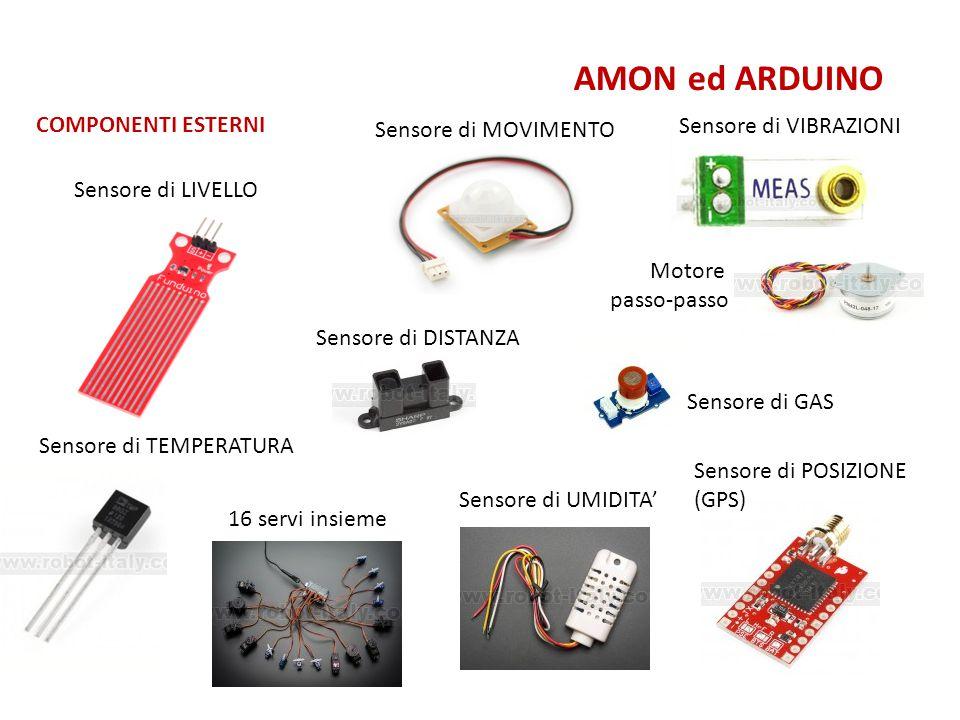 AMON ed ARDUINO COMPONENTI ESTERNI Sensore di VIBRAZIONI