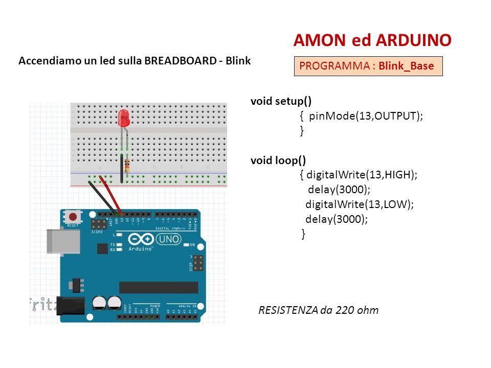 AMON ed ARDUINO Accendiamo un led sulla BREADBOARD - Blink