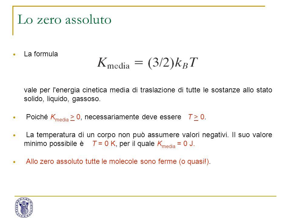 Lo zero assoluto La formula
