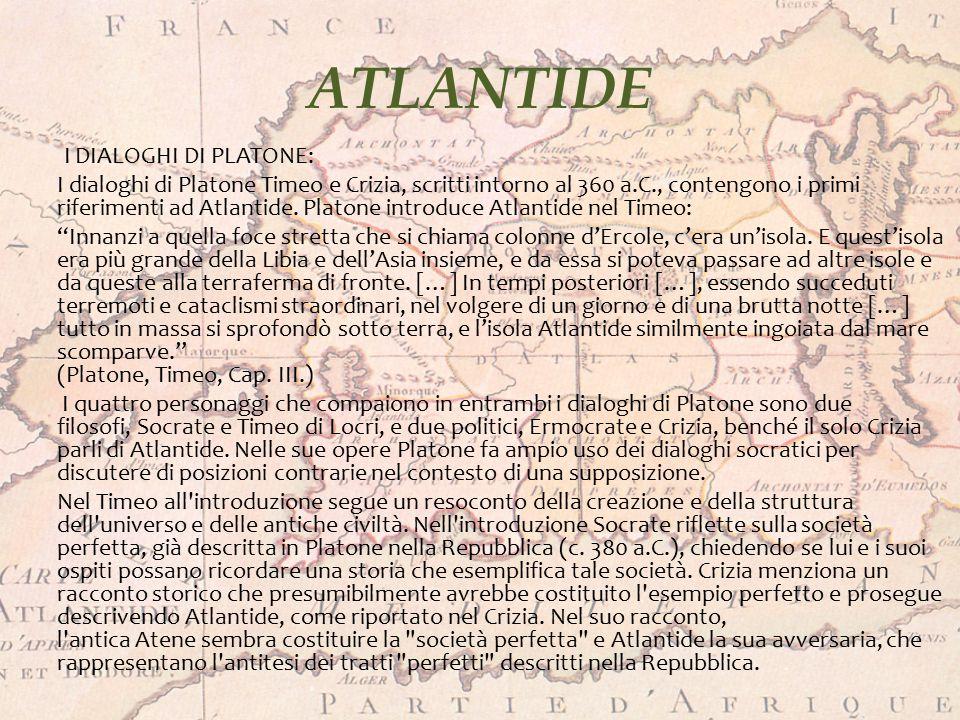 ATLANTIDE I DIALOGHI DI PLATONE: