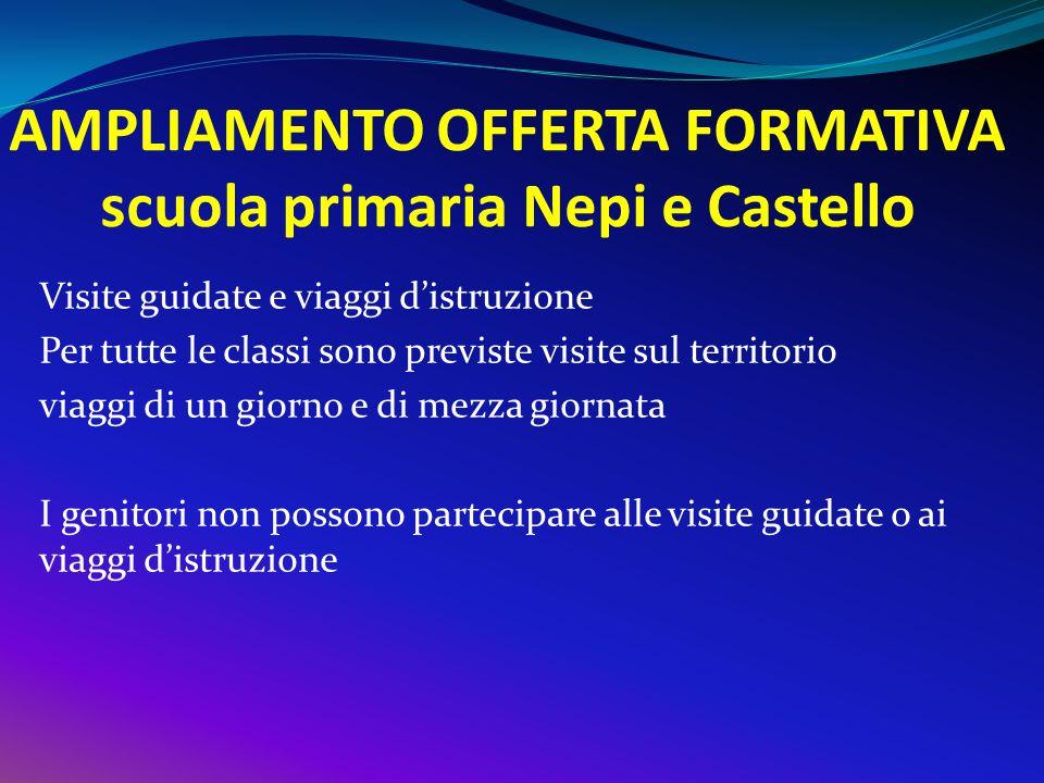 AMPLIAMENTO OFFERTA FORMATIVA scuola primaria Nepi e Castello