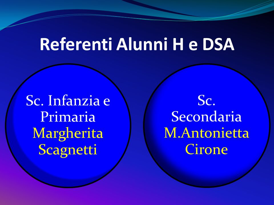 Referenti Alunni H e DSA