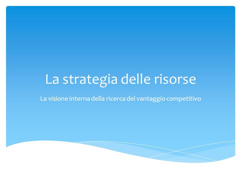 La strategia delle risorse
