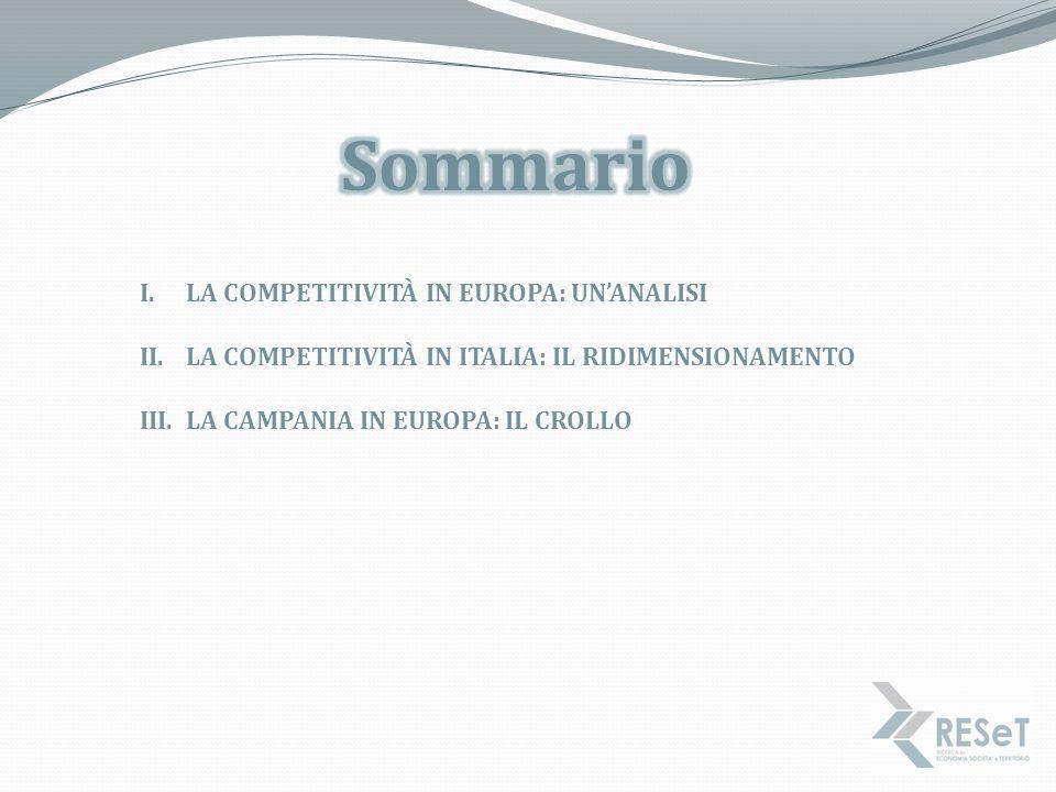Sommario La Competitività IN EUROPA: un'analisi