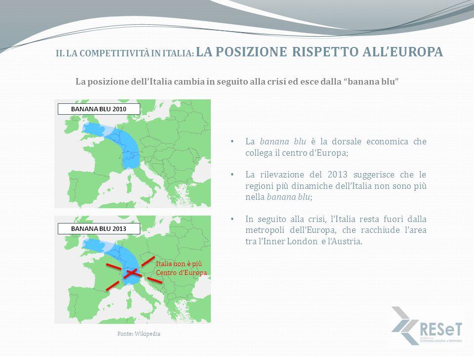 II. La competitività in Italia: la posizione rispetto all'Europa