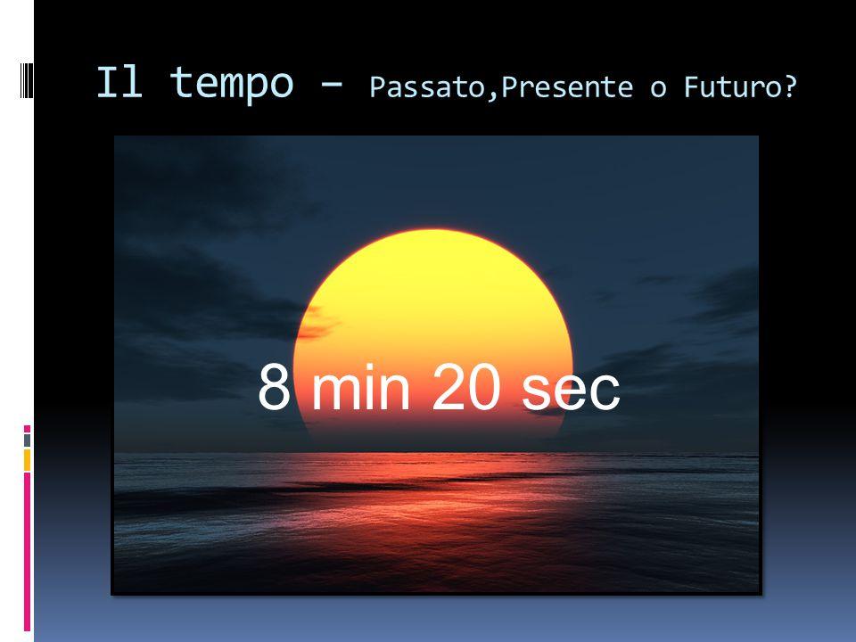 Il tempo – Passato,Presente o Futuro