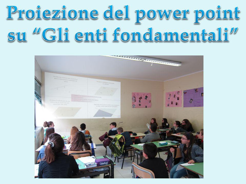 Proiezione del power point su Gli enti fondamentali
