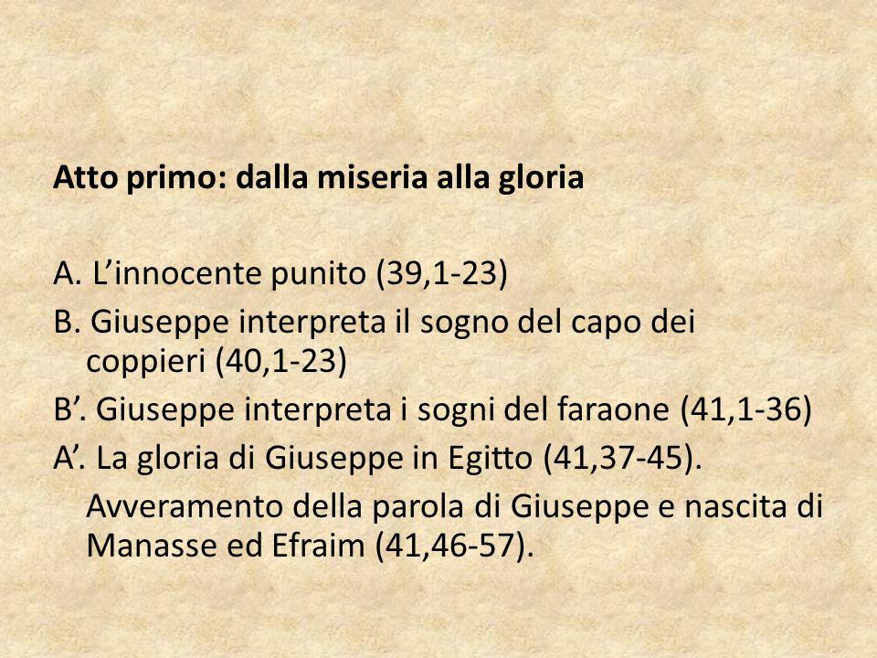 Atto primo: dalla miseria alla gloria A. L'innocente punito (39,1-23) B.