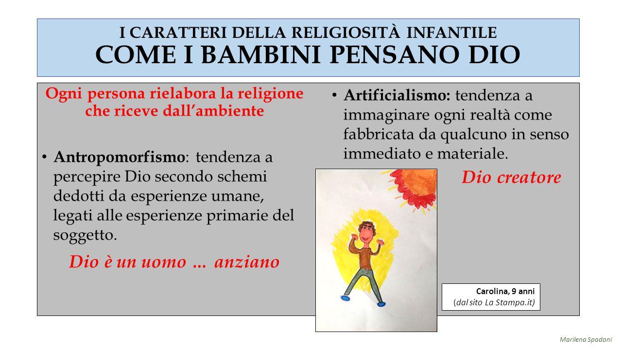 I CARATTERI DELLA RELIGIOSITÀ INFANTILE COME I BAMBINI PENSANO DIO