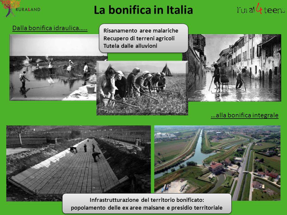 La bonifica in Italia Dalla bonifica idraulica…..