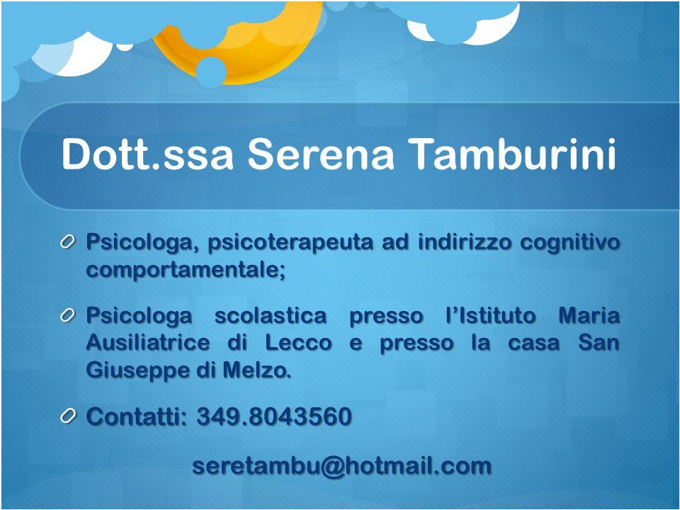 Dott.ssa Serena Tamburini