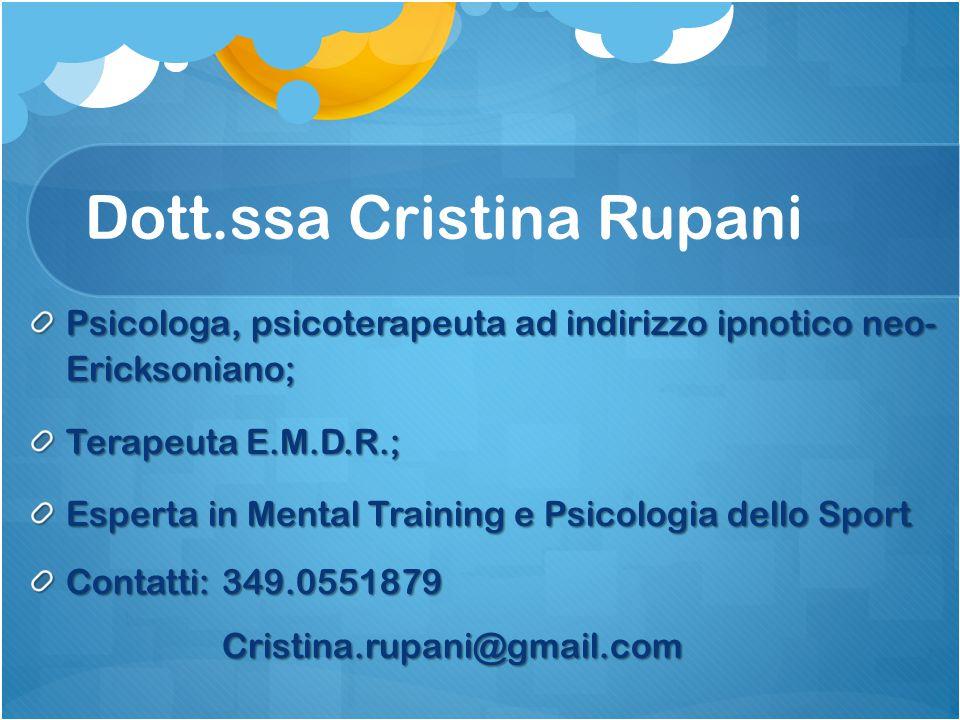 Dott.ssa Cristina Rupani