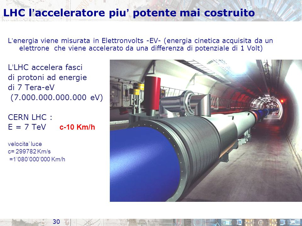 LHC l'acceleratore piu' potente mai costruito